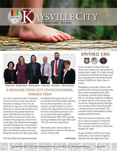 August 2020 Kaysville City Newsletter - Page 1